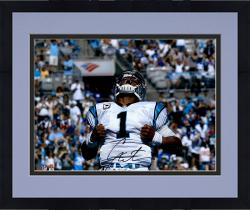 Framed Cam Newton Carolina Panthers Autographed 16'' x 20'' Superman Photograph - Mounted Memories