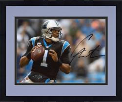 Framed Cam Newton Carolina Panthers Autographed 8'' x 10'' Passing Photograph - Mounted Memories