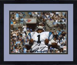 Framed Cam Newton Carolina Panthers Autographed 8'' x 10'' Superman Photograph - Mounted Memories