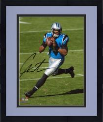"Framed Cam Newton Carolina Panthers Autographed 8"" x 10"" Vertical Scramble Photograph"