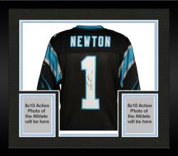 Framed Cam Newton Carolina Panthers Autographed Nike Elite Black Jersey