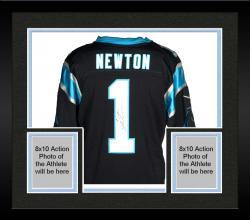 Framed Cam Newton Carolina Panthers Autographed Nike Limited Black Jersey