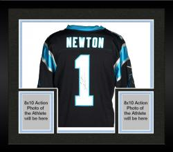 Framed Cam Newton Carolina Panthers Autographed Nike Limited Black Jersey