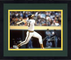 Framed Jose Canseco Oakland Athletics Autographed 8'' x 10'' Horizontal Swing Photograph - Mounted Memories