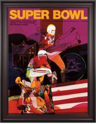 "1970 Chiefs vs Vikings 36"" x 48"" Framed Canvas Super Bowl IV Program"