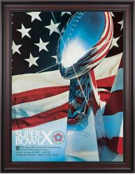 "1976 Steelers vs Cowboys 36"" x 48"" Framed Canvas Super Bowl X Program"