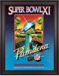 "1977 Raiders vs Vikings 36"" x 48"" Framed Canvas Super Bowl XI Program"