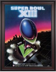 "1979 Steelers vs Cowboys 36"" x 48"" Framed Canvas Super Bowl XIII Program"