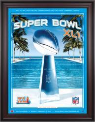"2007 Colts vs Bears 36"" x 48"" Framed Canvas Super Bowl XLI Program"