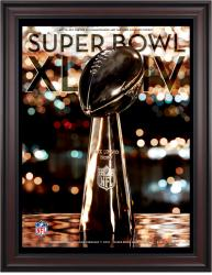 "2010 Saints vs Colts 36"" x 48"" Framed Canvas Super Bowl XLIV Program"