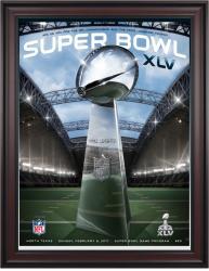 "2011 Packers vs Steelers 36"" x 48"" Framed Canvas Super Bowl XLV Program"