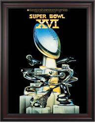 "1982 49ers vs Bengals 36"" x 48"" Framed Canvas Super Bowl XVI Program"