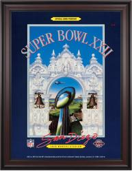 "1988 Redskins vs Broncos 36"" x 48"" Framed Canvas Super Bowl XXII Program"