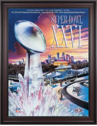 "1992 Redskins vs Bills 36"" x 48"" Framed Canvas Super Bowl XXVI Program"