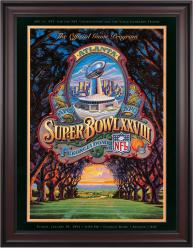 "1994 Cowboys vs Bills 36"" x 48"" Framed Canvas Super Bowl XXVIII Program"