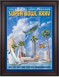 "2001 Ravens vs Giants 36"" x 48"" Framed Canvas Super Bowl XXXV Program"