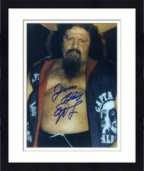 "Framed Captain Lou Albano Autographed 8"" x 10"" Belly Photograph"