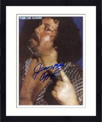 "Framed Captain Lou Albano Autographed 8"" x 10"" Finger Photograph"