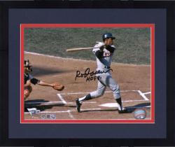 Framed Rod Carew Minnesota Twins Autographed 8'' x 10'' Horizontal Swing Photograph With HOF 91 Inscription