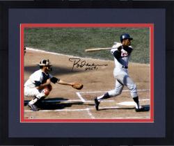 Framed Rod Carew Minnesota Twins Autographed 16'' x 20''Horizontal Swing Photograph With HOF 91 Inscription