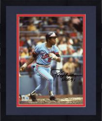 Framed Rod Carew Minnesota Twins Autographed 8'' x 10'' Vertical Swing Photograph With HOF 91 Inscription