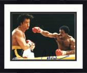 """Framed Carl Weathers Autographed 11"""" x 14"""" Rocky Punching Photograph - BAS COA"""