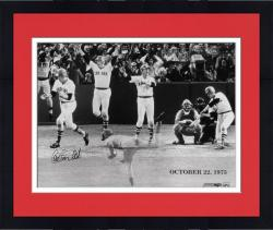 "Framed Carlton Fisk Boston Red Sox Triple Exposure 1975 World Series Game 6 16"" x 20"" Multi Exposure Autographed Photograph"