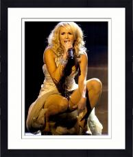 Framed Carrie Underwood Autographed 11'' x 14'' Singing Photograph
