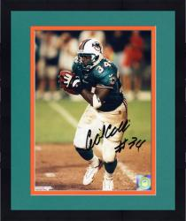 "Framed Cecil Collins Miami Dolphins Autographed 8"" x 10"" Teal Uniform Photograph"