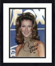 "Framed Celine Dion Autographed 8""x 10"" Fox Sign in Background Photograph - Beckett COA"