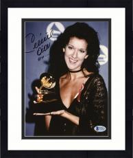 "Framed Celine Dion Autographed 8""x 10"" Holding Grammy Award Photograph - Beckett COA"