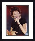 "Framed Celine Dion Autographed 8""x 10"" Singing with Hand on Waist Photograph - Beckett COA"