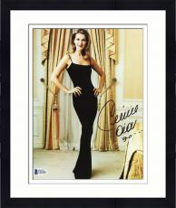 "Framed Celine Dion Autographed 8""x 10"" Wearing all Black Dress Photograph - Beckett COA"