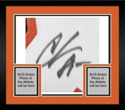 Framed Chad Johnson Cincinnati Bengals Autographed Black Custom Jersey