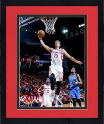 "Framed Chandler Parsons Houston Rockets Autographed 16"" x 20"" Dunk Photograph"