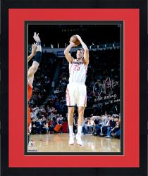 """Framed Chandler Parsons Houston Rockets Autographed 16"""" x 20"""" Jumper Photograph with NBA Record Most 3s In A Half Inscription"""