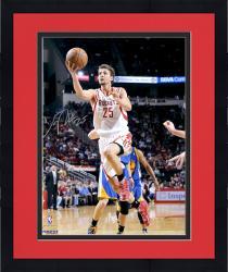 "Framed Chandler Parsons Houston Rockets Autographed 16"" x 20"" White Uniform Layup Photograph"