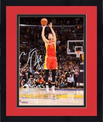 """Framed Chandler Parsons Houston Rockets Autographed 8"""" x 10"""" Buzzer Photograph with Go Rockets Inscription"""
