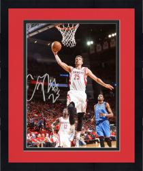 "Framed Chandler Parsons Houston Rockets Autographed 8"" x 10"" Dunk Photograph"