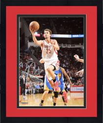 "Framed Chandler Parsons Houston Rockets Autographed 8"" x 10"" White Uniform Layup Photograph"
