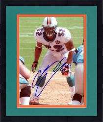 Framed Channing Crowder Miami Dolphins Autographed 8'' x 10'' Pose Photograph