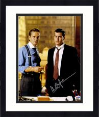 "Framed Charlie Sheen Autographed 11"" x 14"" Wall Street Standing Wearing Suit Photograph - PSA/DNA COA"
