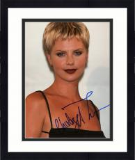 "Framed Charlize Theron Autographed 8""x 10"" Wearing Black Dress Photograph - Beckett COA"