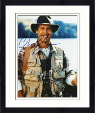 Framed Chevy Chase Autographed 8'' x 10'' Fishing Photograph