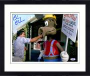 "Framed Chevy Chase Autographed 11"" x 14"" National Lampoons Vacation- Punching Photograph - PSA/DNA"