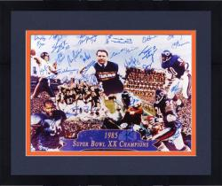 Framed Chicago Bears 1985 Team Autographed 16'' x 20'' Photograph with 28 Signatures