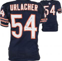Framed Chicago Bears Brian Urlacher Reebok Game-Used Autographed Jersey