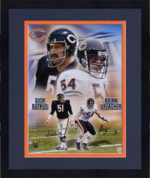 Framed Chicago Bears Butkus/Urlacher Signed 16'' x 20'' Photo