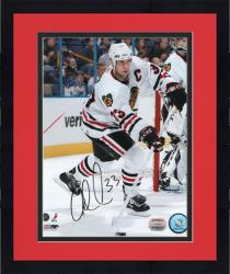 """Framed Adrian Aucoin Chicago Blackhawks Autographed 8"""" x 10"""" By Net Photograph"""