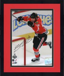 """Framed Chicago Blackhawks Ben Eager 2010 Stanley Cup Champions Autographed 8"""" x 10"""" Photo -"""